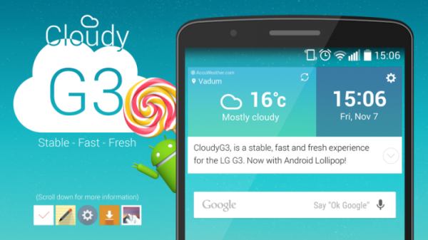 CloudyG3 2.5 All Variants LG G3 LS990/VS985/D850/1/2/5 (MEGA)