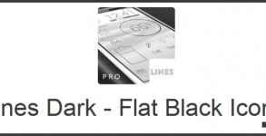 Lines Dark - Flat Black Icons Android apk v1.0.1 (MEGA)