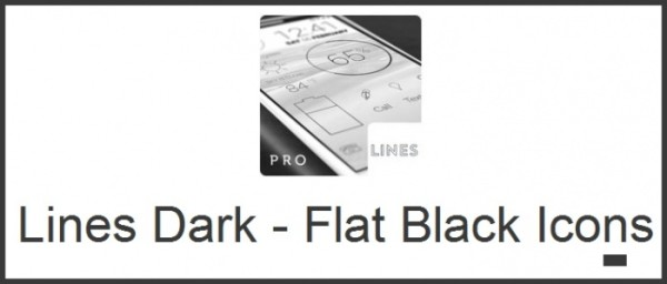 Lines Dark – Flat Black Icons Android apk v1.0.1 (MEGA)