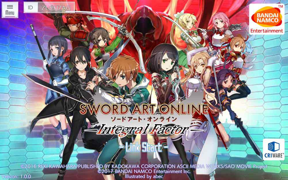 Sword Art Online: Integral Factor apk v1.0.1 Full Mod (MEGA)